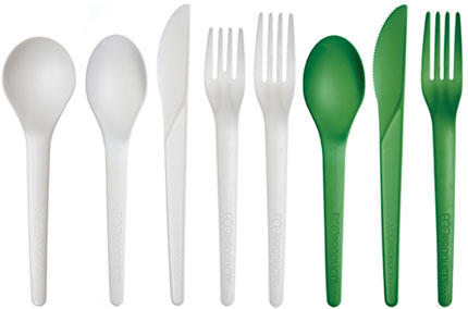 art-green-cutlery